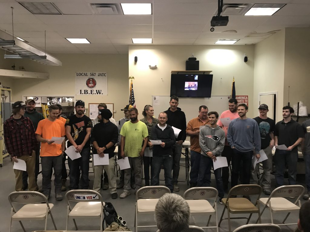 IBEW Local 567's apprenticeship program allows apprentices to get started on a rewarding career in the electrical industry.