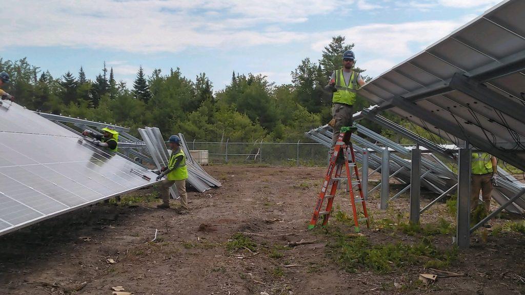 Sullivan & Merritt electricians of IBEW Local 567 Sanford Solar